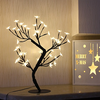 Bolylight LED Cherry Blossom Table Tree Lamp 16.73 inch 40L, Warm White